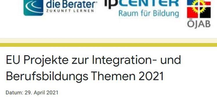 Online Fachaustausch: EU-Projekte zu Integrations- und Berufsbildungs-Themen 2021